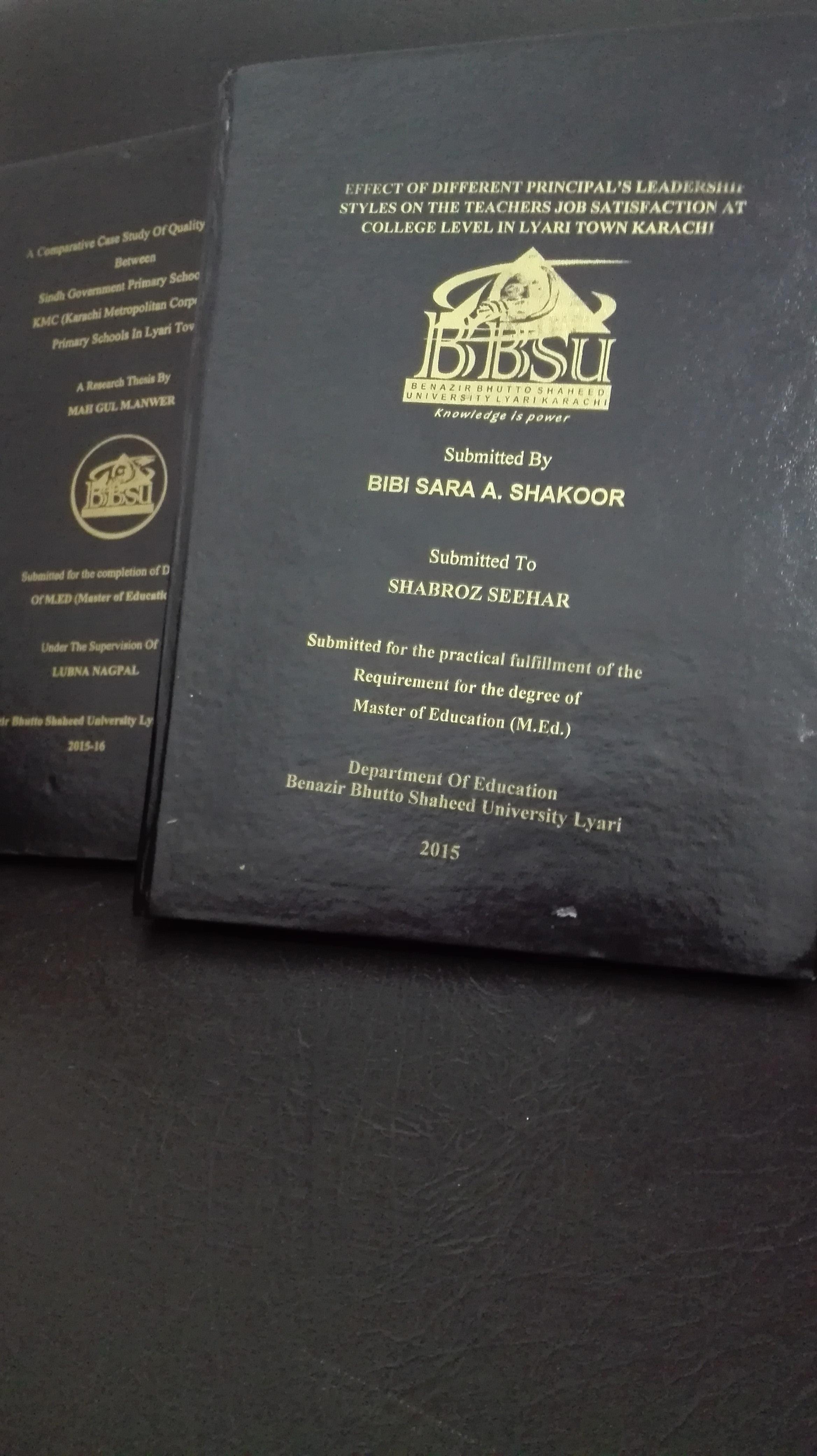 Benazir Bhutto Shaheed University